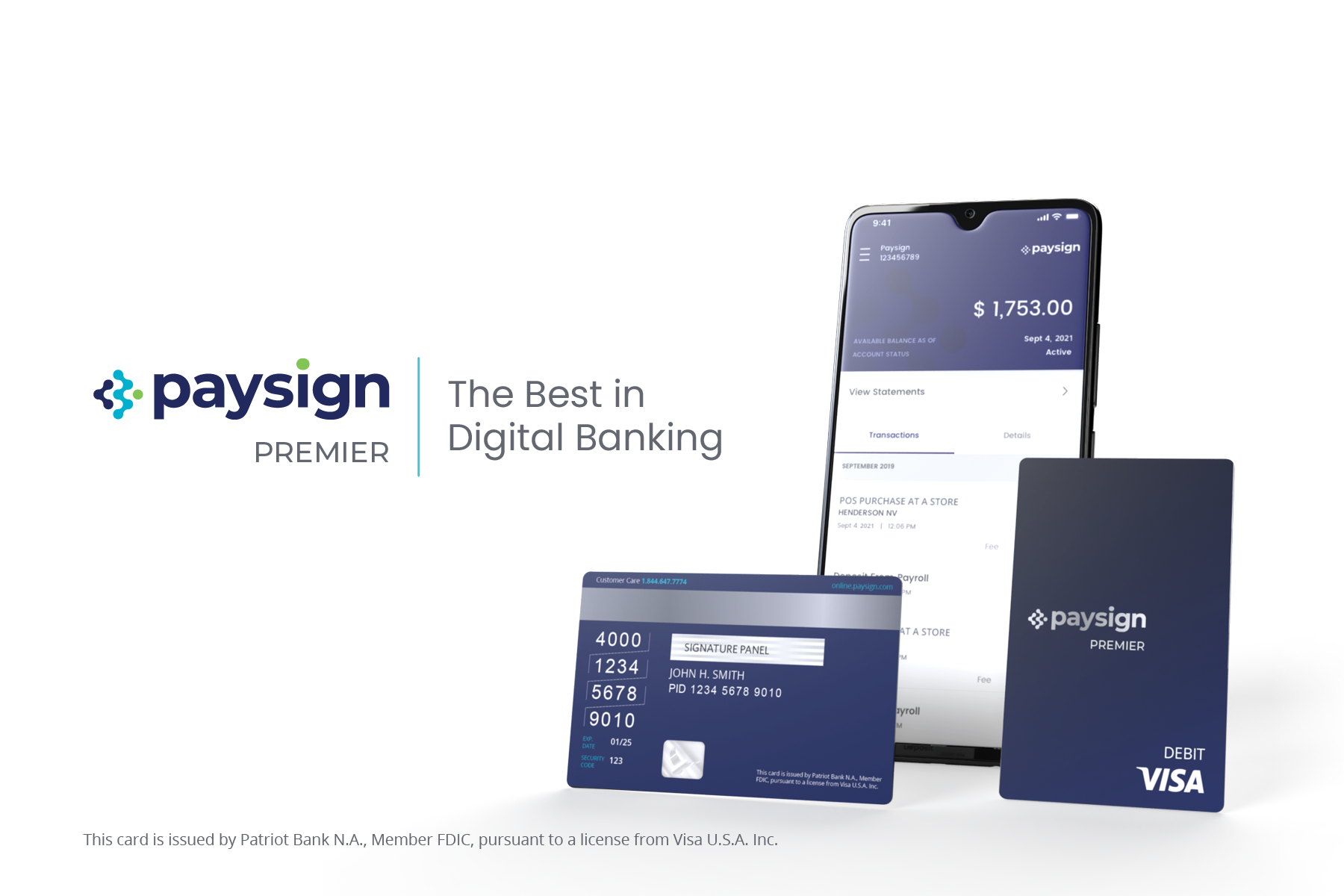 Paysign Premier – The Best in Digital Banking
