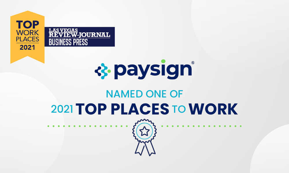 Paysign Named Top Workplace 2021